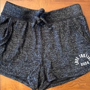 Girls Justice Active Black Knit Dolphin Shorts